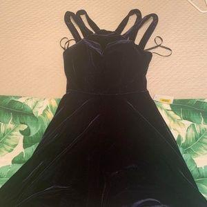 B. Darlin Blue Suede Dress